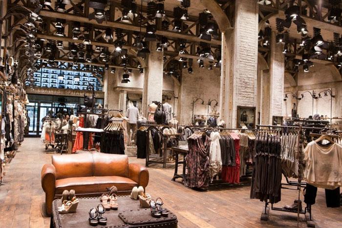 工业风格服装店效果图_工业风格服装店效果图设计