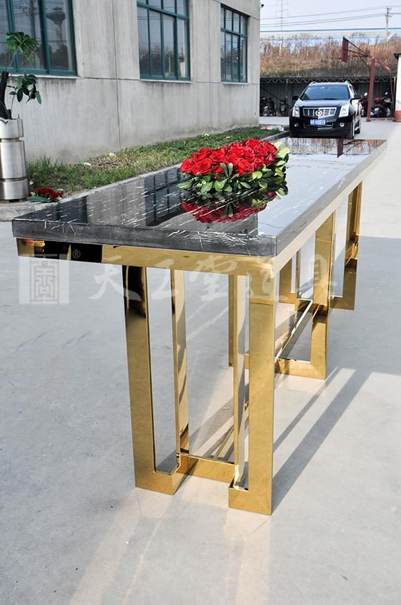 不锈钢大理石展示台