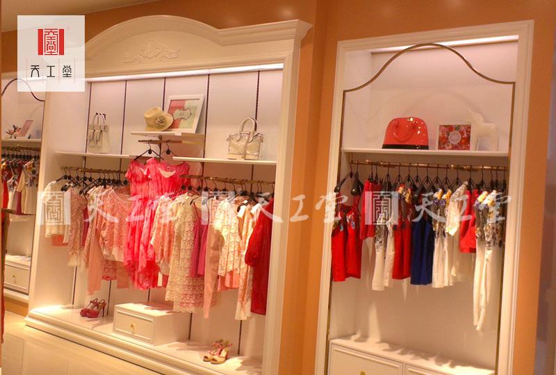 欧式服装展示柜