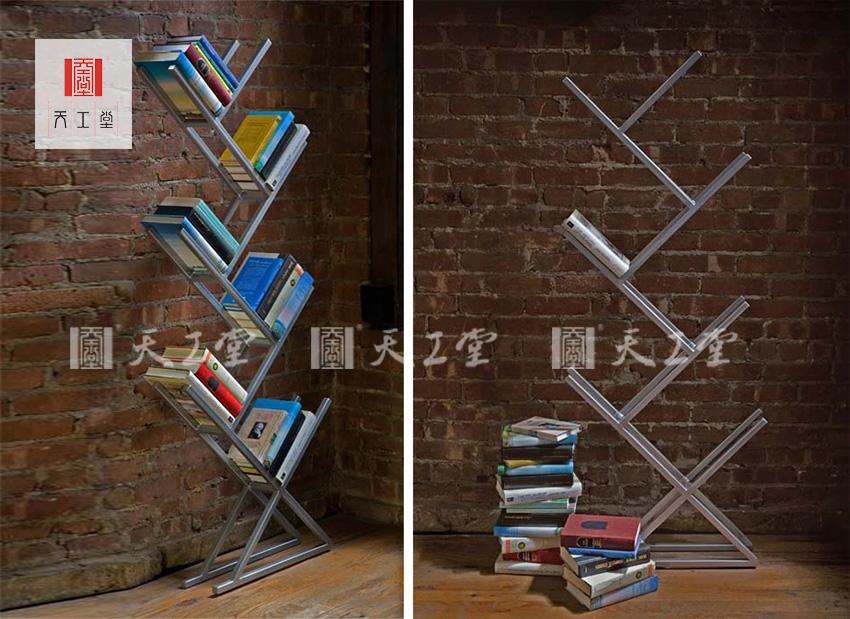 不锈钢创意书架