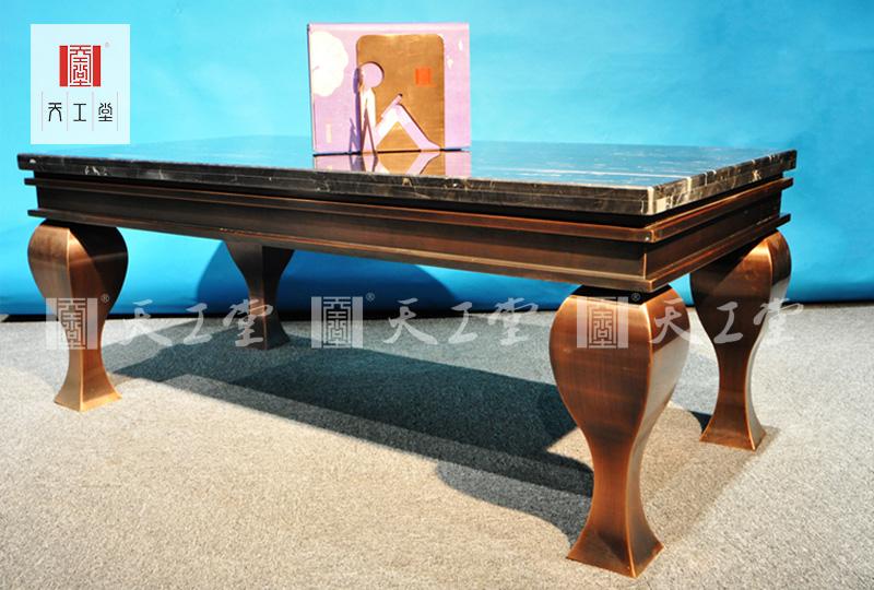 不锈钢大理石长桌