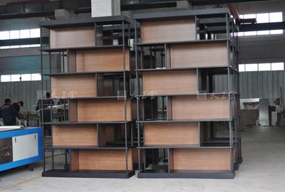 美式复古隔断置物架 书架 装饰架