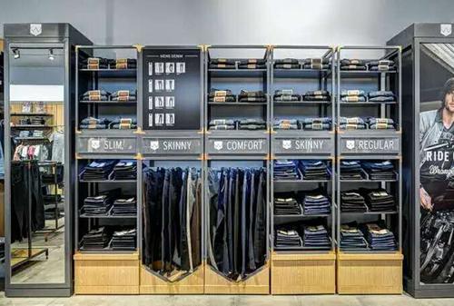 服装展示架,服装店专用服装展示道具定做